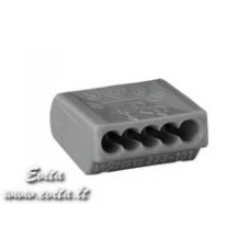 Push wire connector for junction boxes 273-101 5x0,75-1,5mm2 18A 400V WAGO