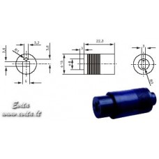 Socket for acoustic columns for cable