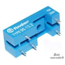Socket 95.13.3 FINDER for relays F4031 and F4131 soldered