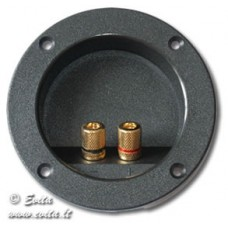 Socket for acoustic columns with 2 screwed BANAN sockets