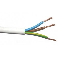 Cable 3x2.5mm², 1m. baltas