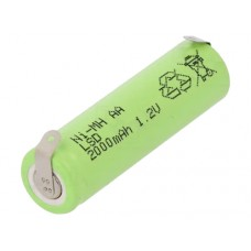 Battery R6 (AA) 1.2V 2000mAh NiMH with soldering lugs