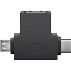 "Adapter ""USB 3.0A Female -  USB 2.0 Micro Male - USB-C Male"""