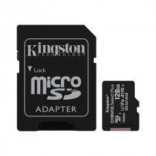 Atminties kortelė Micro SD 128GB + SD adapteris Kingston