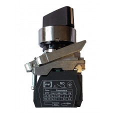 Turnable Switch FP Rec3 Black 2NO 3 positions (ON-OFF-ON) IP40 with fixation