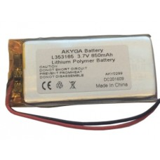 Rechargeable battery 3.7V 850mAh 3.5x31x65mm Li-Polymer