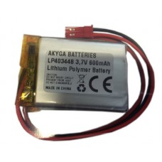 Rechargeable battery 3.7V 600mAh 4x34x48mm Li-Polymer