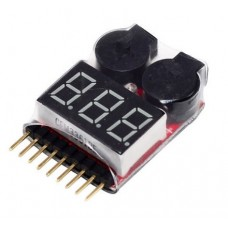 1-8S Battery Display Low Voltage Buzzer Alarm 2IN1 Tester Module BB Ring