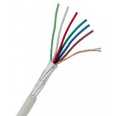 Cable shielded 6x0.22mm²., 1m