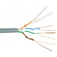 Computer network cable UTP 5E cat. stranded cord, indoor, 4 pairs, 1m.